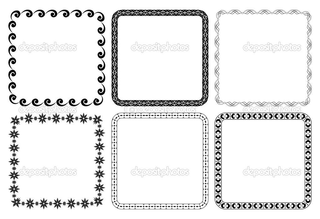 conjunto de vectores Marcos - plazas — Archivo Imágenes Vectoriales ...