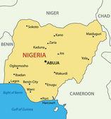 Fotografie Federal Republic of Nigeria - vector map