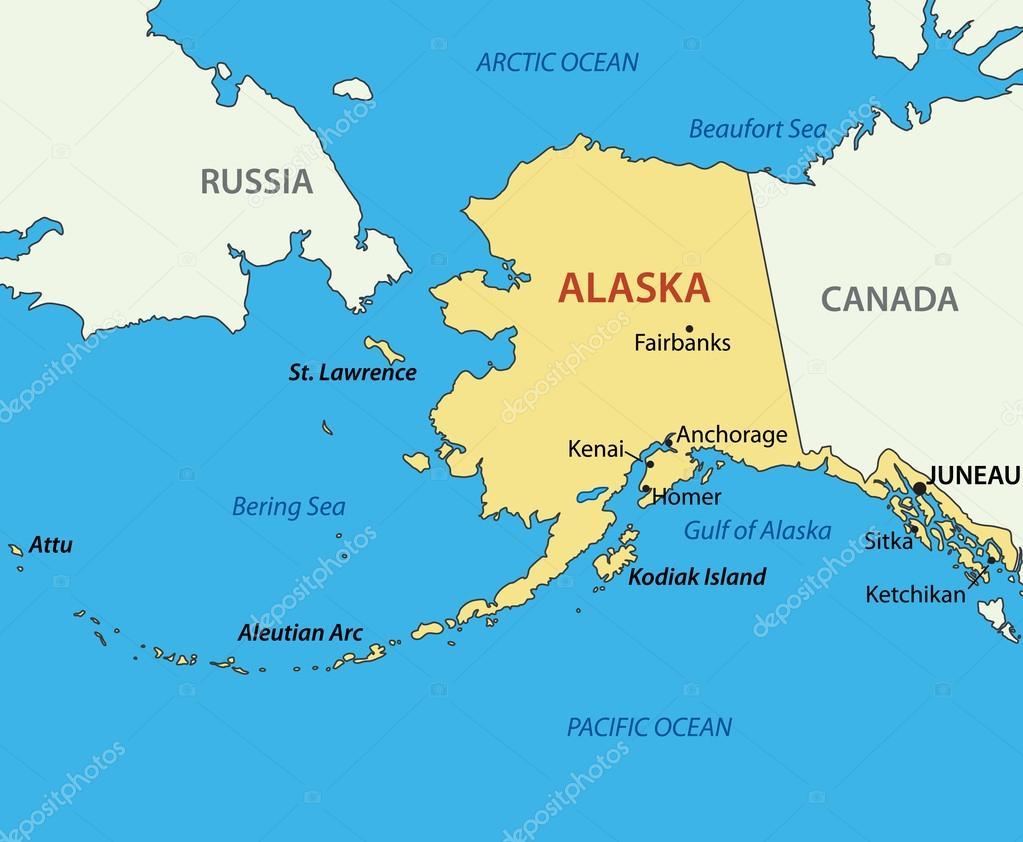 alasca mapa Alasca   mapa do vetor — Vetor de Stock © pavalena #43670733 alasca mapa