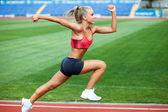 Fotografie sportiga kvinnan