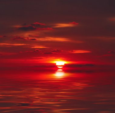 Sunset over water