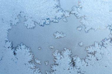 Frosty on winter glass