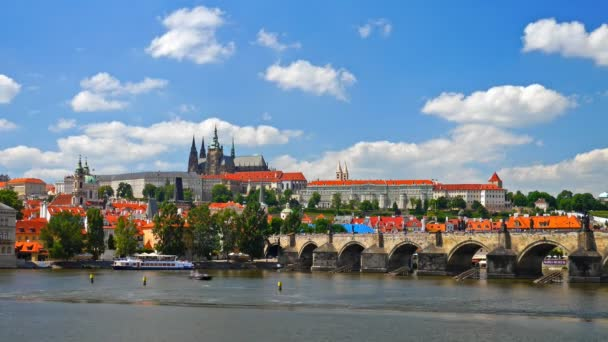 Pražský hrad, Česká republika. timelapse