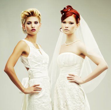 Two young brides