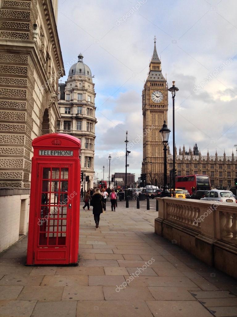 rote telefonzelle big ben und h user des parlaments in london uk stockfoto 40020751. Black Bedroom Furniture Sets. Home Design Ideas