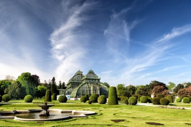 The Palm House in Schonbrunn Palace in Vienna