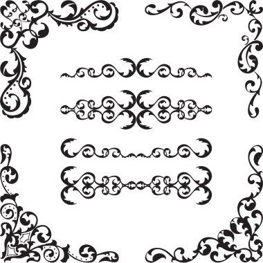Baroque corner set
