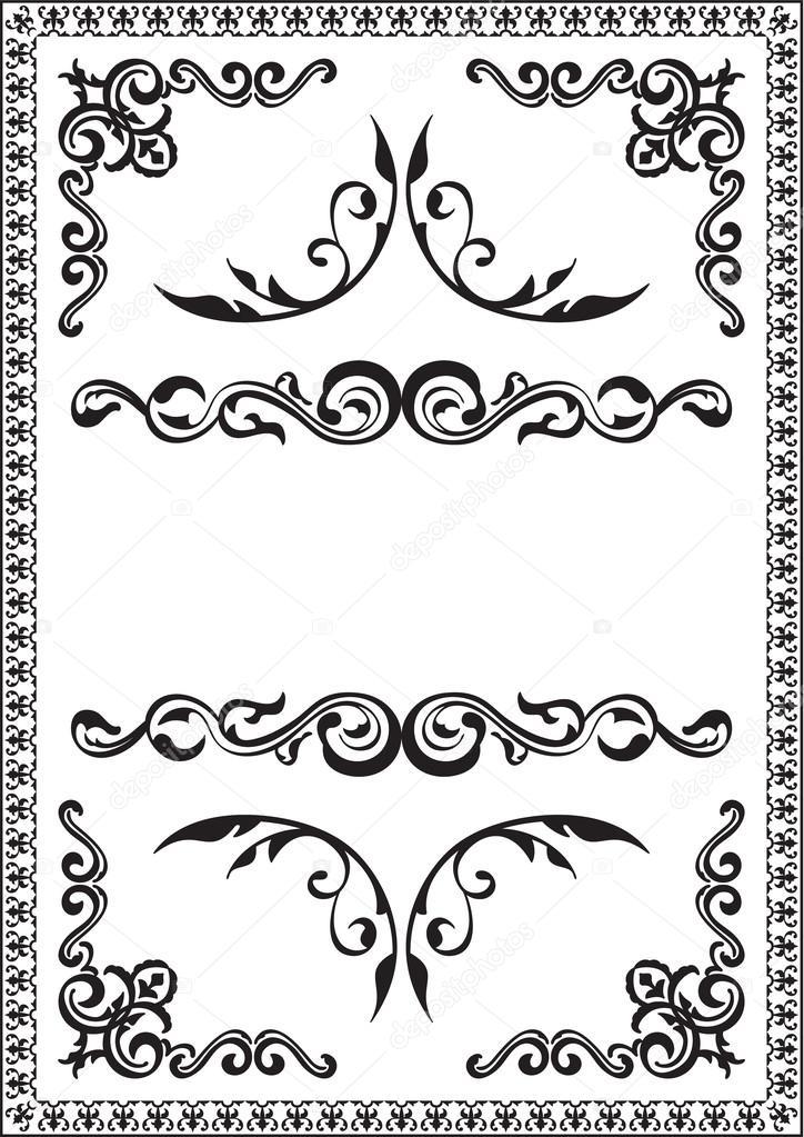bonito marco rococó — Vector de stock © buravtsoff #26741813
