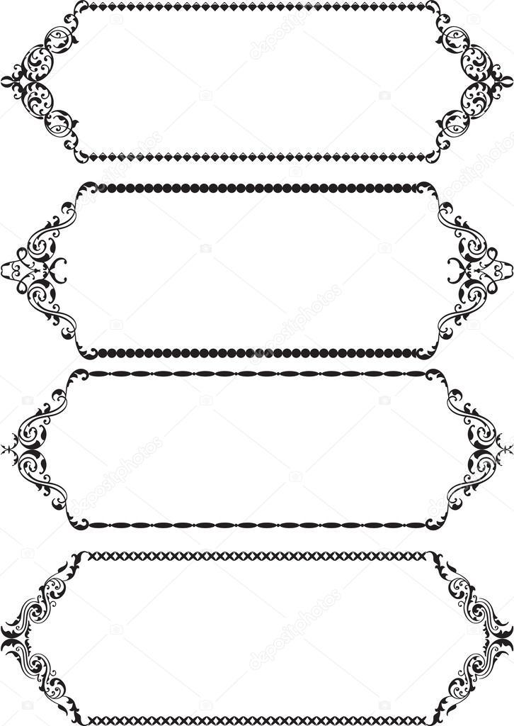 marcos clásicos — Vector de stock © buravtsoff #43299783