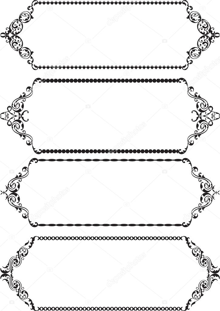 marcos clásicos — Vector de stock © buravtsoff #45773733