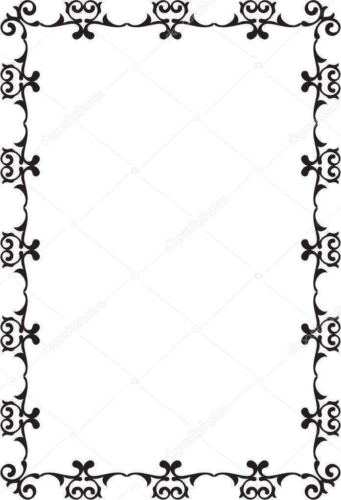 marco rococó — Archivo Imágenes Vectoriales © buravtsoff #51529037