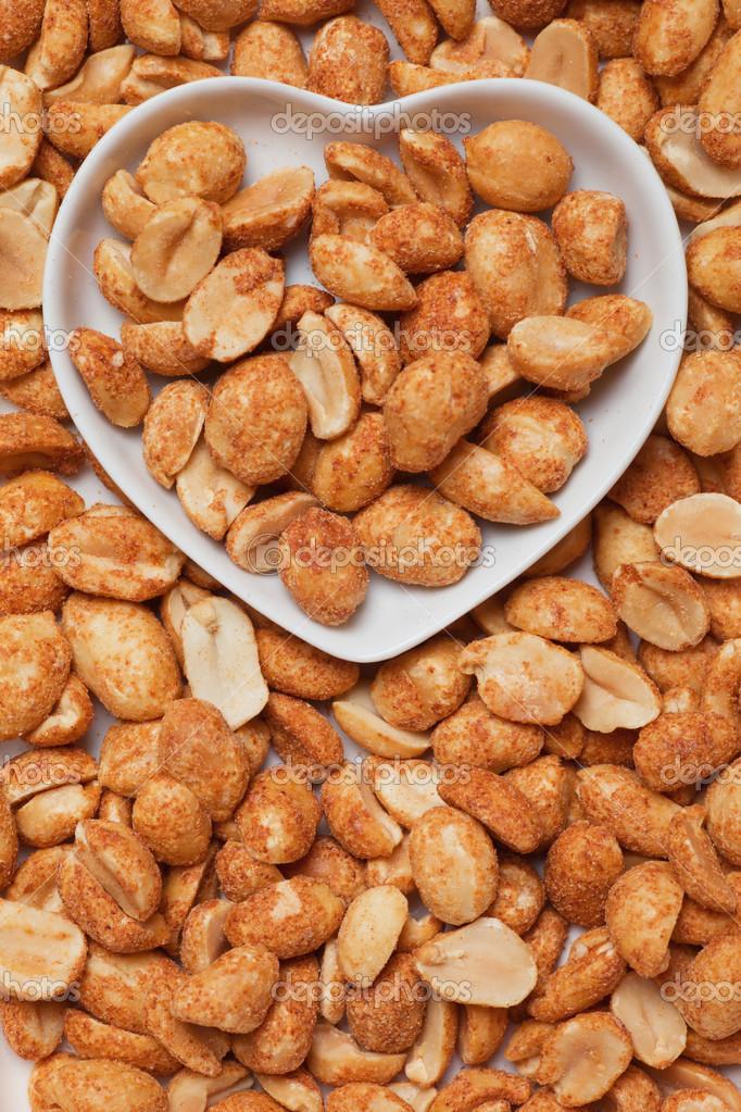 Cacahuetes tostados al horno