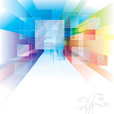 Abstract background for interior or architecture. stock vector