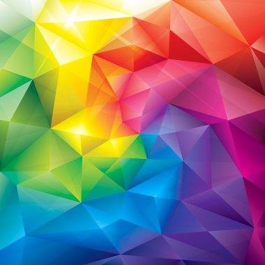 Abstract polygonal gems colors background. clip art vector