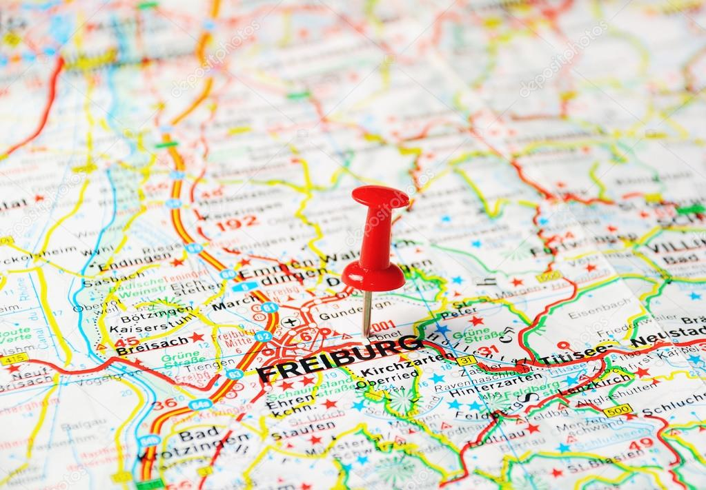 FreiburgGermany map Stock Photo ivosar 48862263