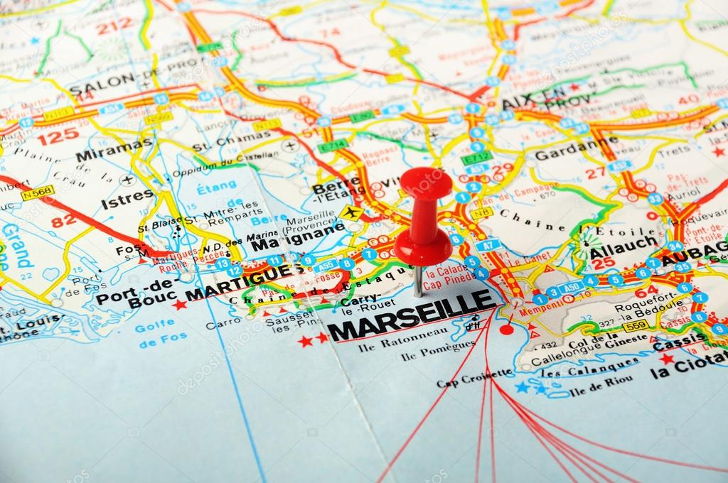 Marseille Map Of France.Marseille France Map Stock Photo C Ivosar 48862337