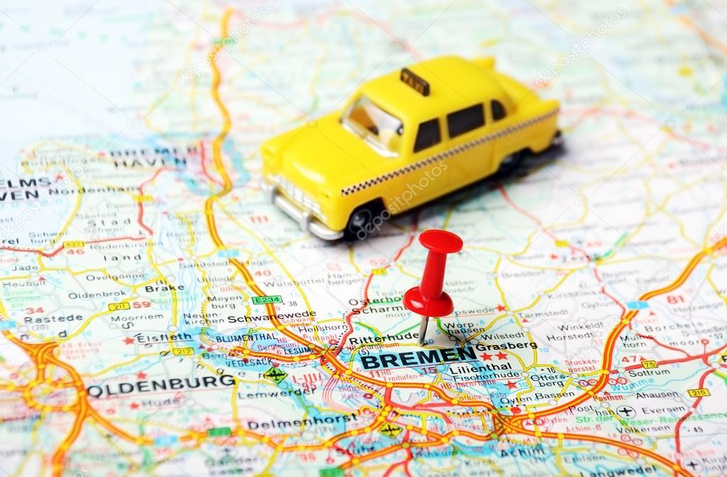 Bremen Germany map taxi Stock Photo ivosar 49291437