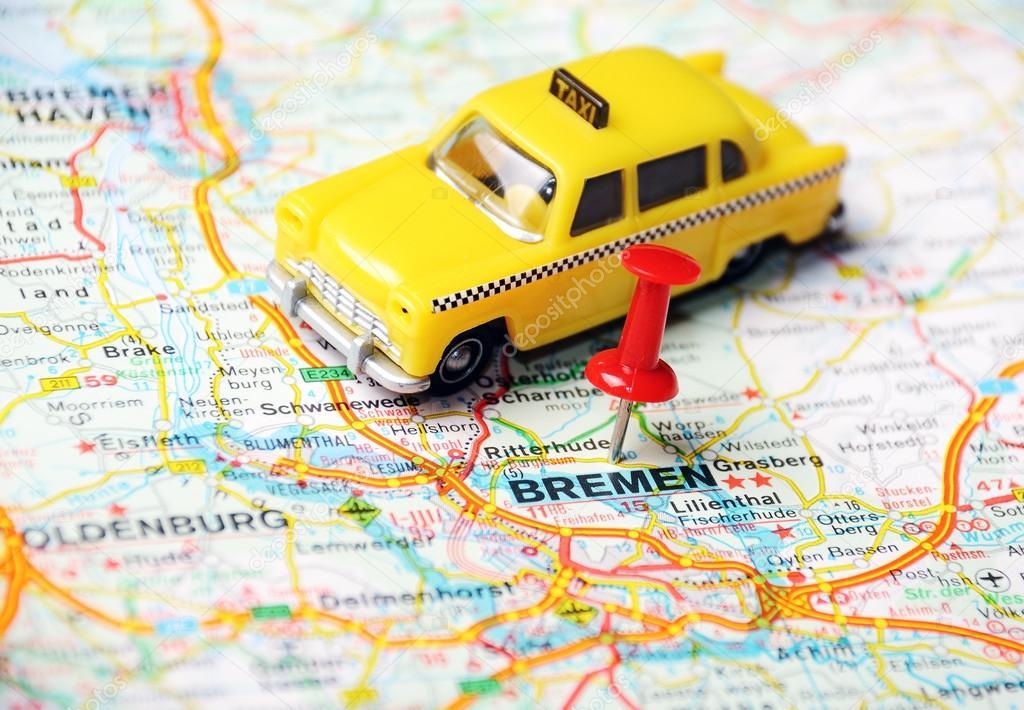 Bremen Germany map taxi Stock Photo ivosar 49291439