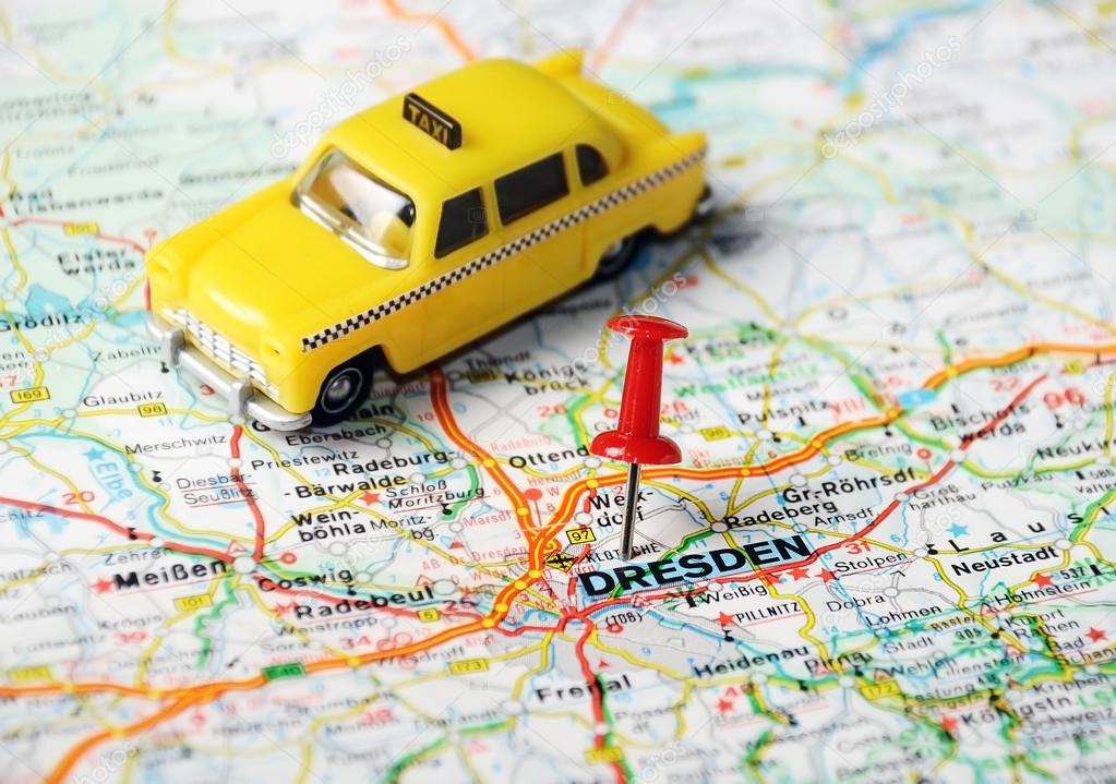 dresden deutschland karte taxi stockfoto ivosar 49291445. Black Bedroom Furniture Sets. Home Design Ideas