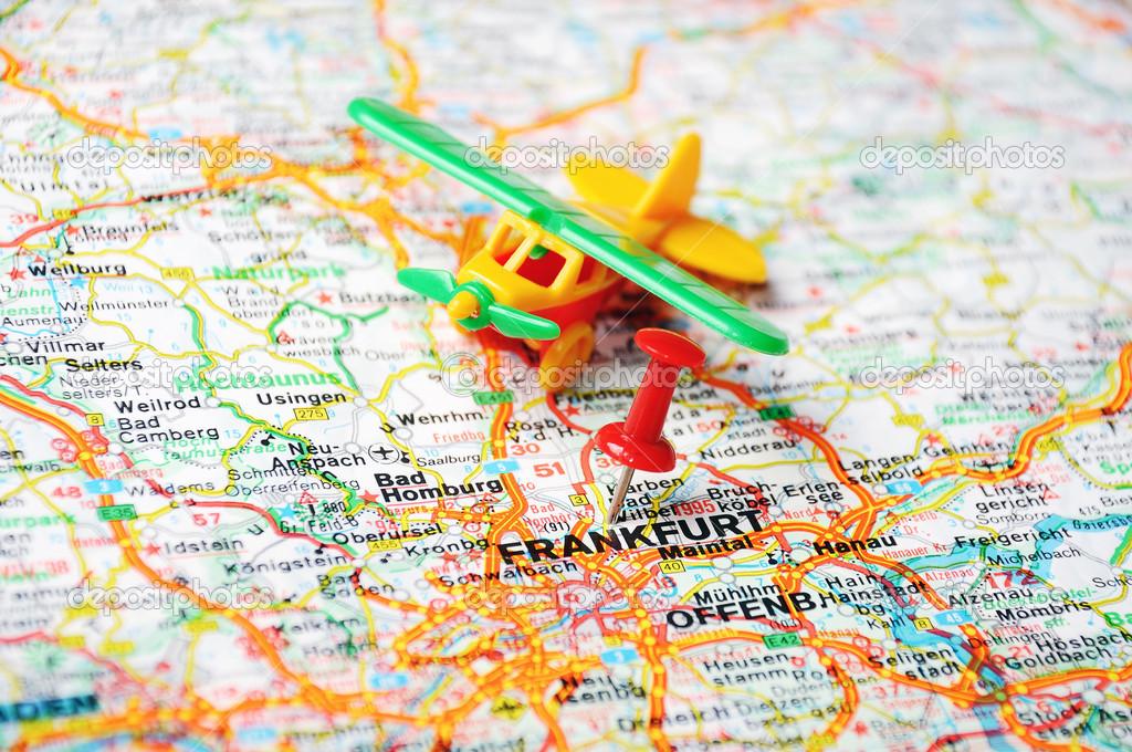 Flughäfen Deutschland Karte.Frankfurt Am Main Deutschland Karte Flughafen Stockfoto Ivosar