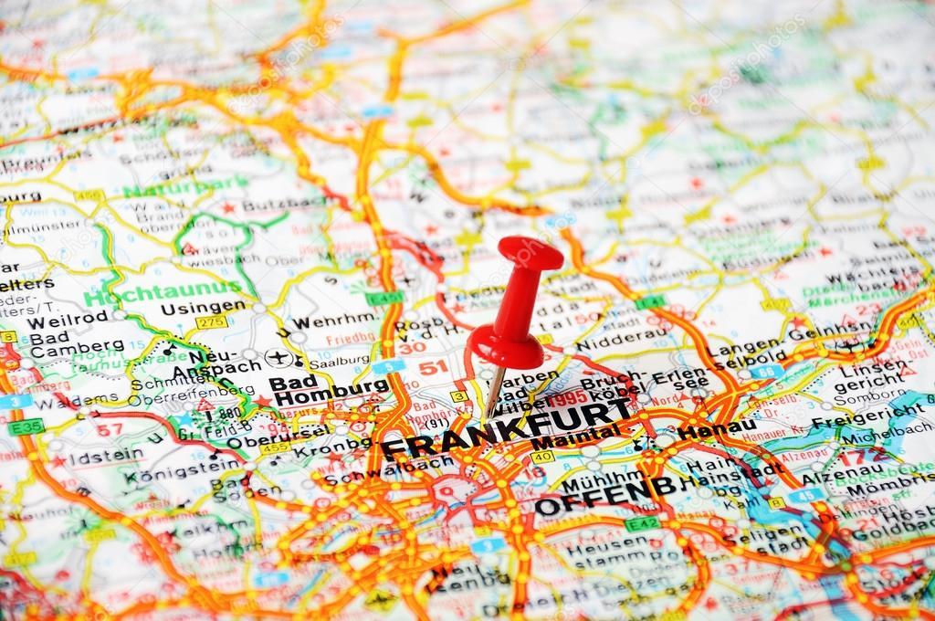 Frankfurt, Germany map — Stock Photo © ivosar #49321221