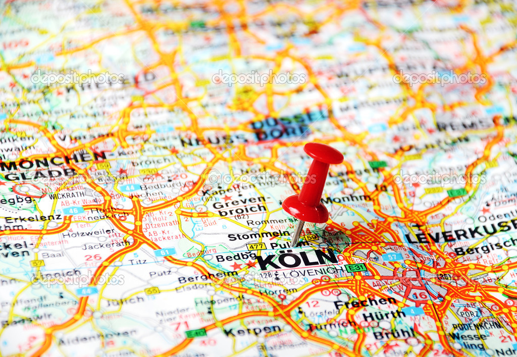 Cologne Germany map Stock Photo ivosar 49321291