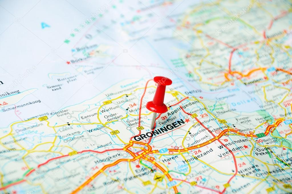 Groningen,Holland map — Stock Photo © ivosar #49406319