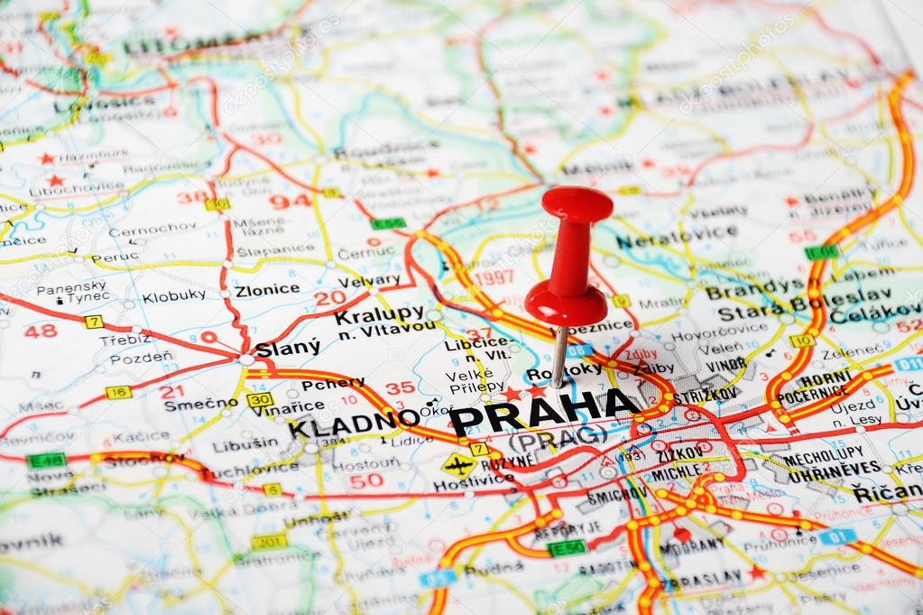 Prague, Czech Republic map — Stock Photo © ivosar #49406355
