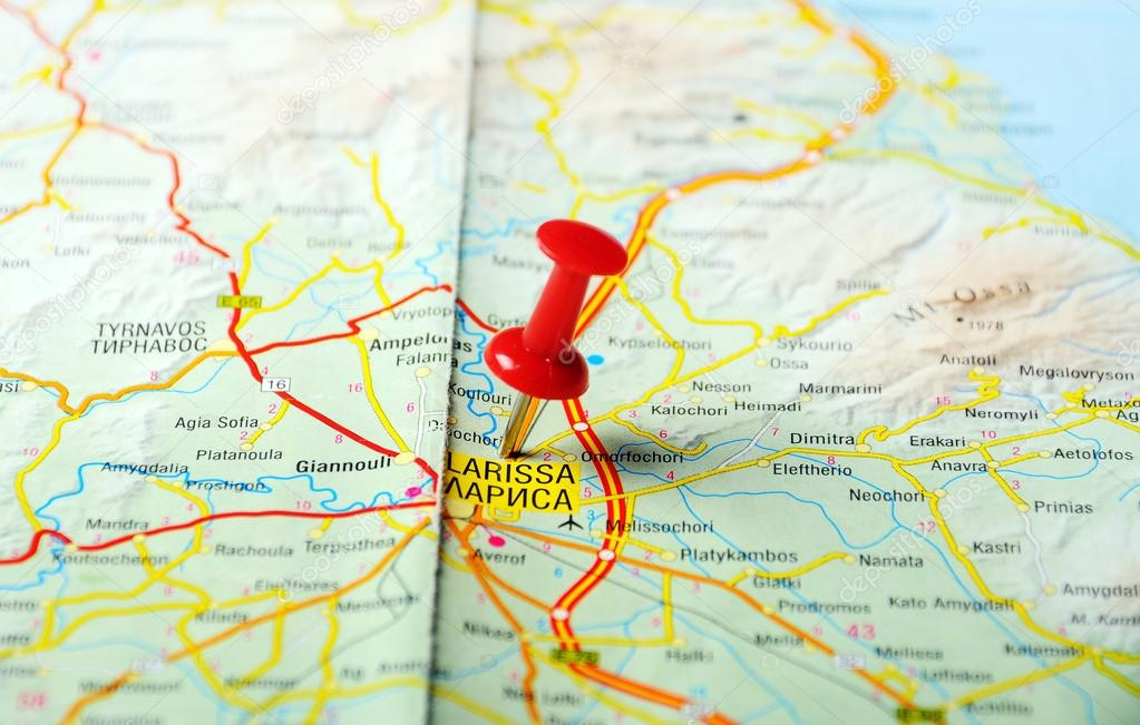 Larissa greece map Stock Photo ivosar 49968753