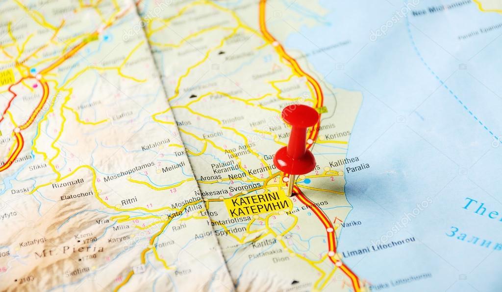 Katerini Greece Map Stock Photo C Ivosar 49968763