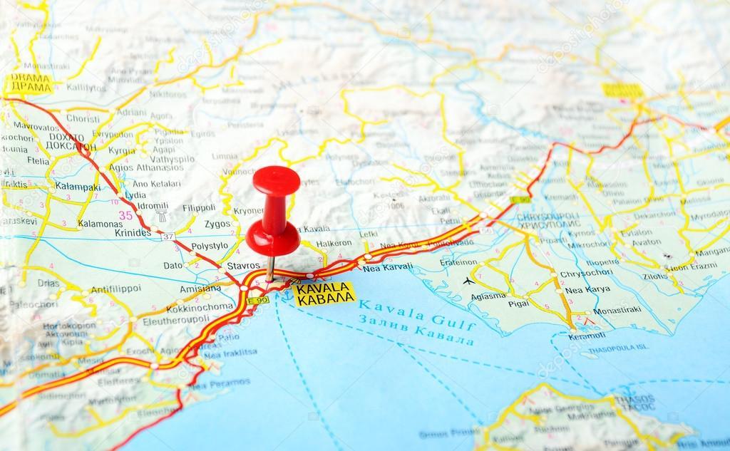 Kavala Greece Map Stock Photo C Ivosar 49968775