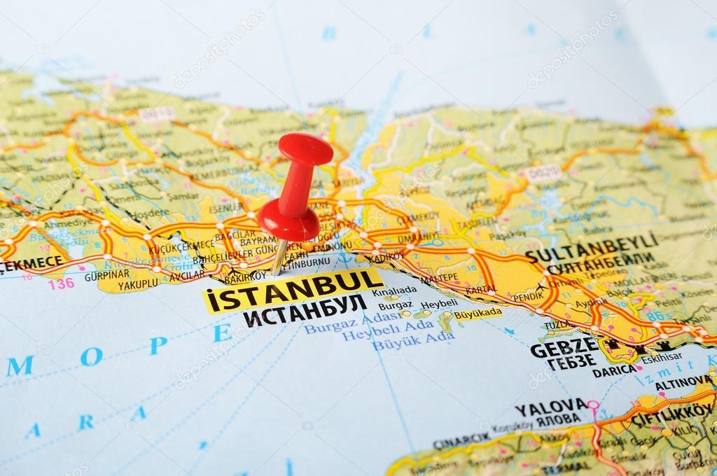Istanbul ,Turkey map — Stock Photo © ivosar #49968849