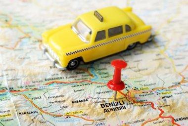 Denizli ,Turkey  map taxi
