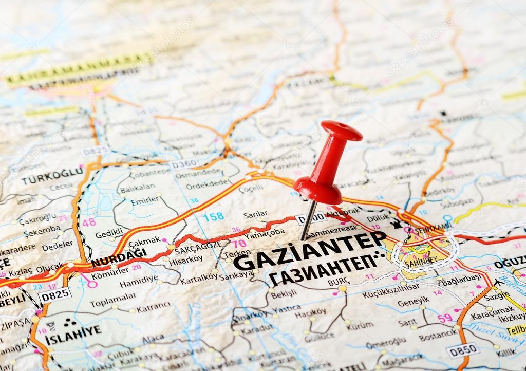 Gaziantep Turkey map Stock Photo ivosar 50070509