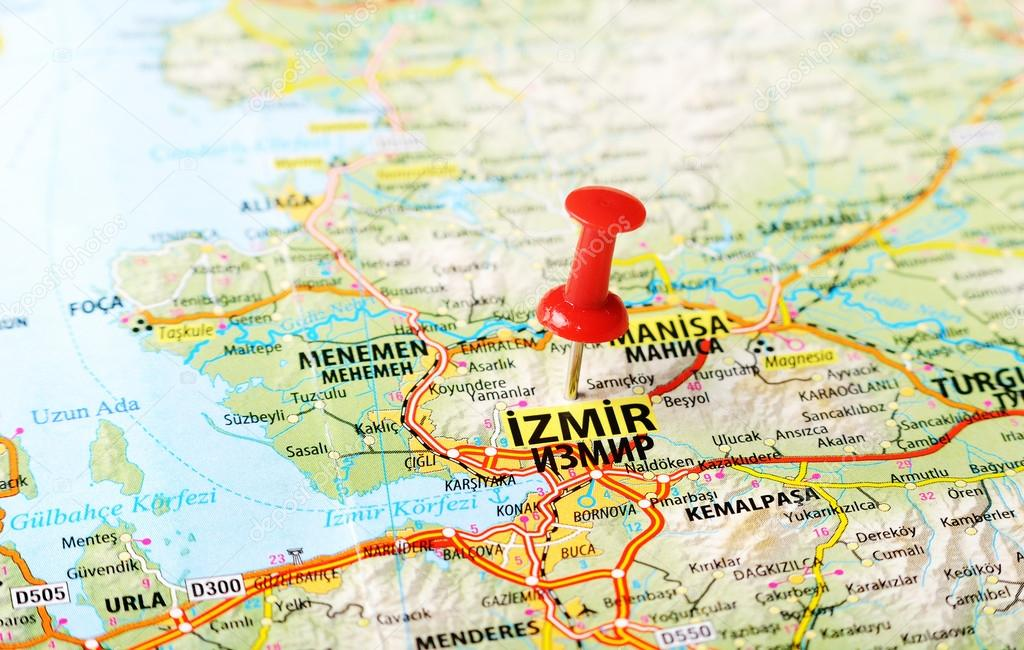 Izmir Turkey map Stock Photo ivosar 50070553