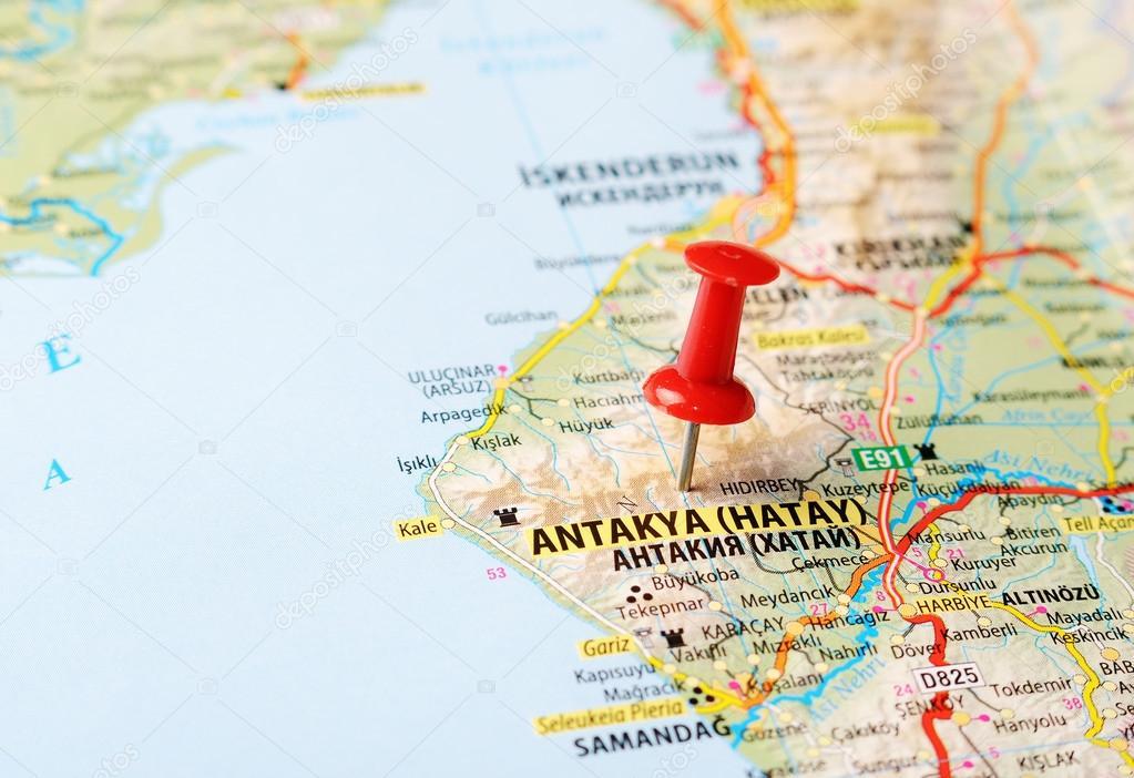 Antakya Hatay Turkey map Stock Photo ivosar 50070771