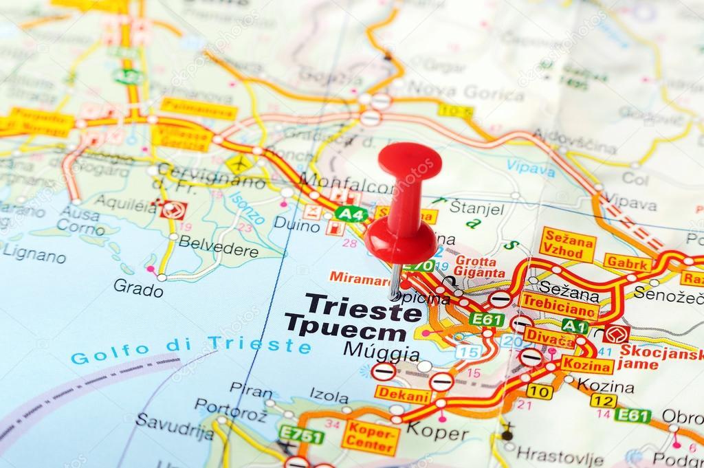 Trieste Italy map Stock Photo ivosar 50121813