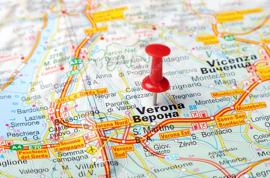 Verona Italien Karte.Verona Italien Karte Stockfoto Ivosar 50183535