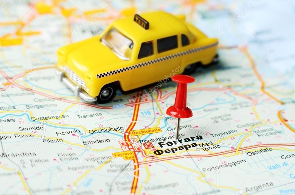 Ferrara Italy map taxi Stock Photo ivosar 50183541