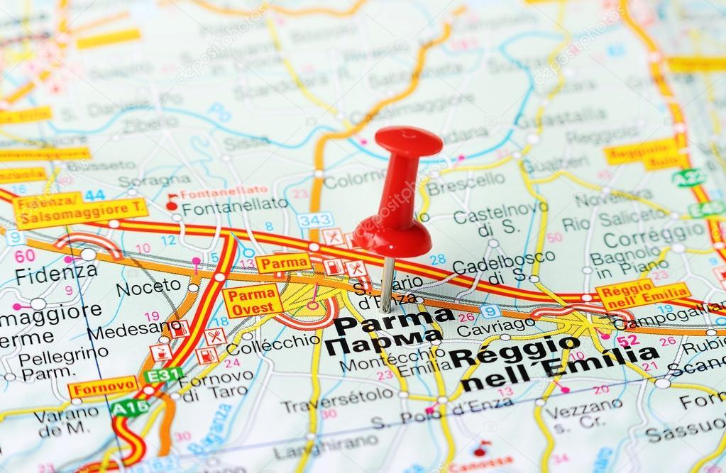 karta parma italien mapa de Itália de Parma — Fotografias de Stock © ivosar #50183567 karta parma italien
