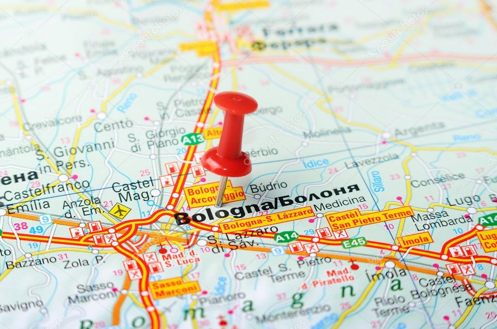 Bologna Italy Map Stock Photo C Ivosar 50324469