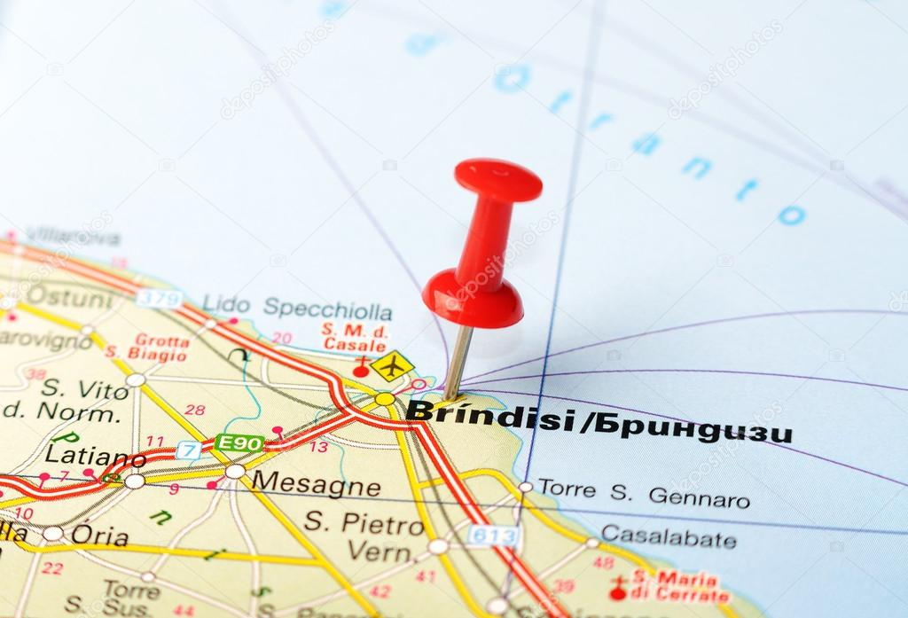 brindisi mapa mapa de Italia Brindisi — Fotos de Stock © ivosar #50324477 brindisi mapa