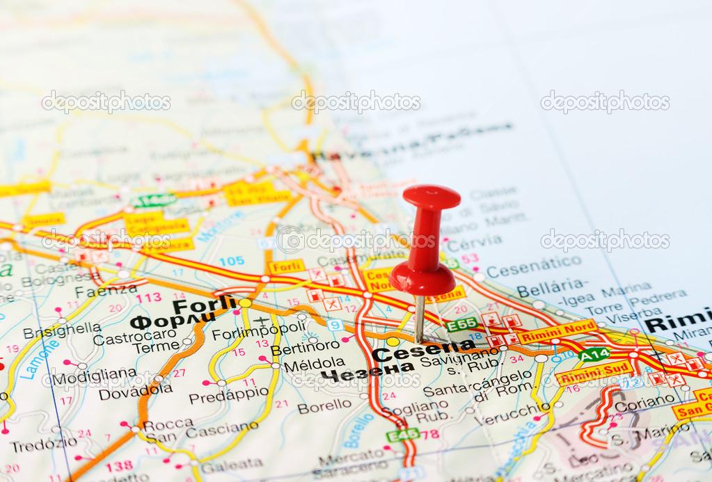 Cesena Italy map Stock Photo ivosar 50324491