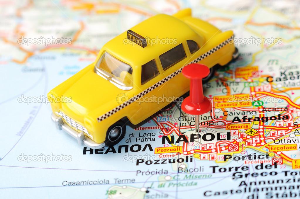 Karta Nord Italien.Napoli Italien Karta Taxi Stockfotografi C Ivosar 50324533