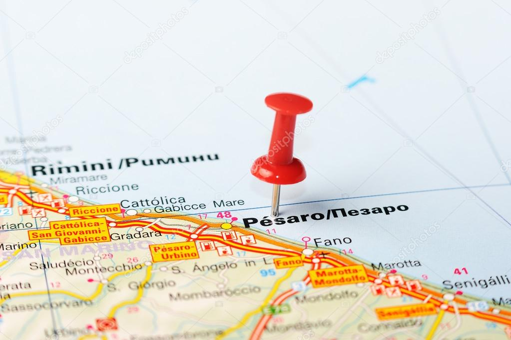 Pesaro Italy map Stock Photo ivosar 50324553