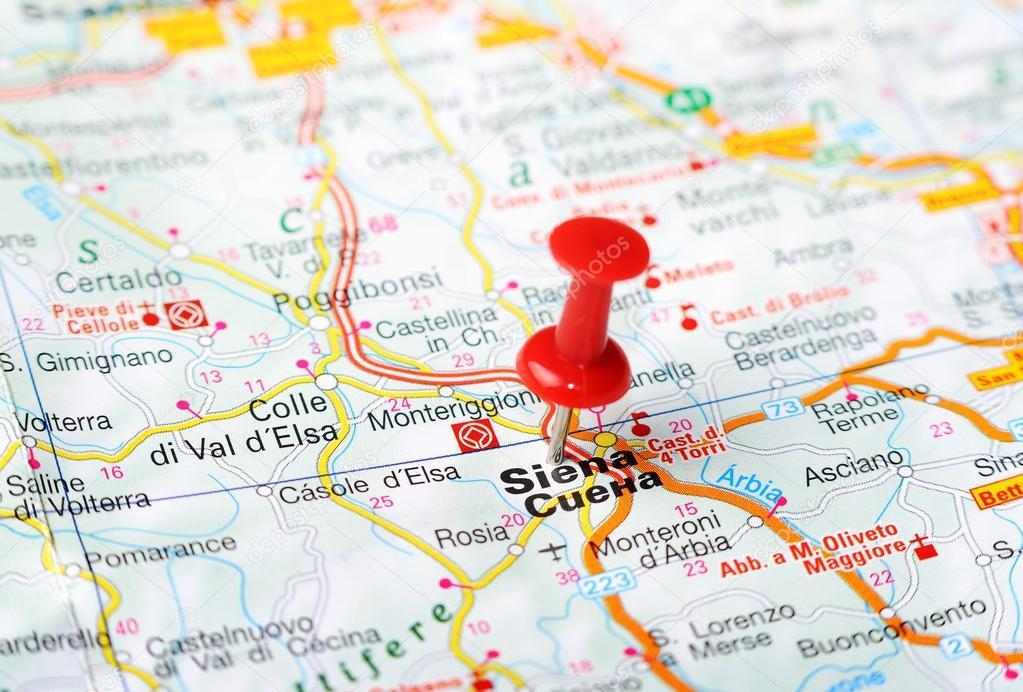 Siena Italy map Stock Photo ivosar 50324595