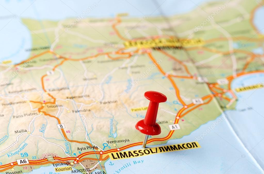 Limassol Cyprus map Stock Photo ivosar 50371261