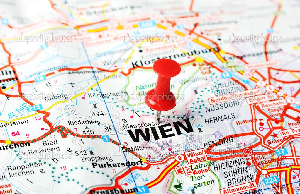 Wien Austria Map Stock Photo C Ivosar 50724747