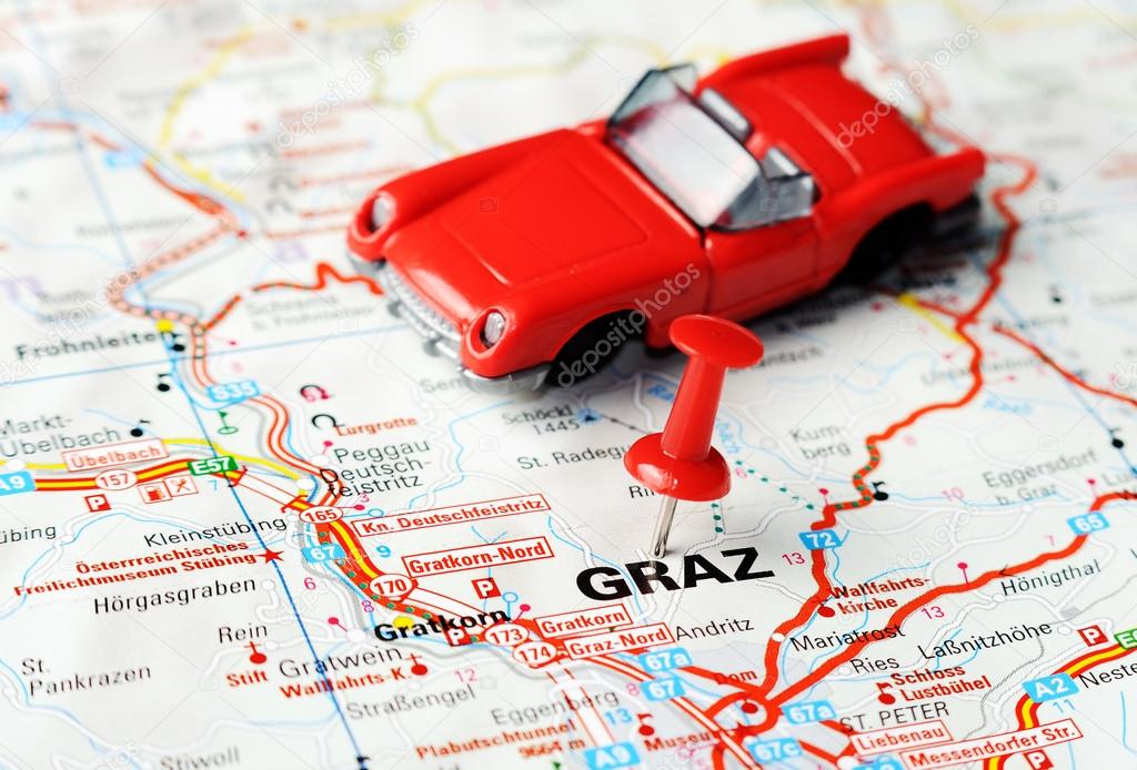 Graz Austria Map Auto Stock Photo Ivosar - Graz austria map