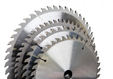 Circular saw blade for wood with hard alloy insertions